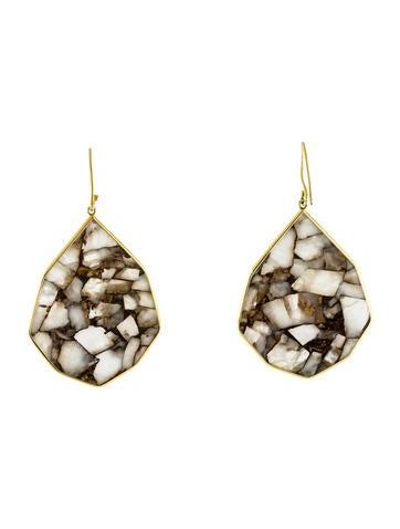 18K Bronze Calcite Drop Earrings