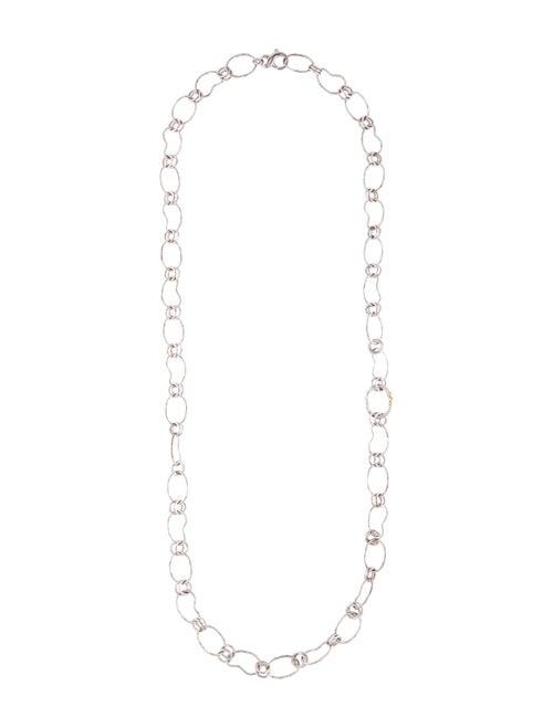 Ippolita Long Bean Link Necklace Silver