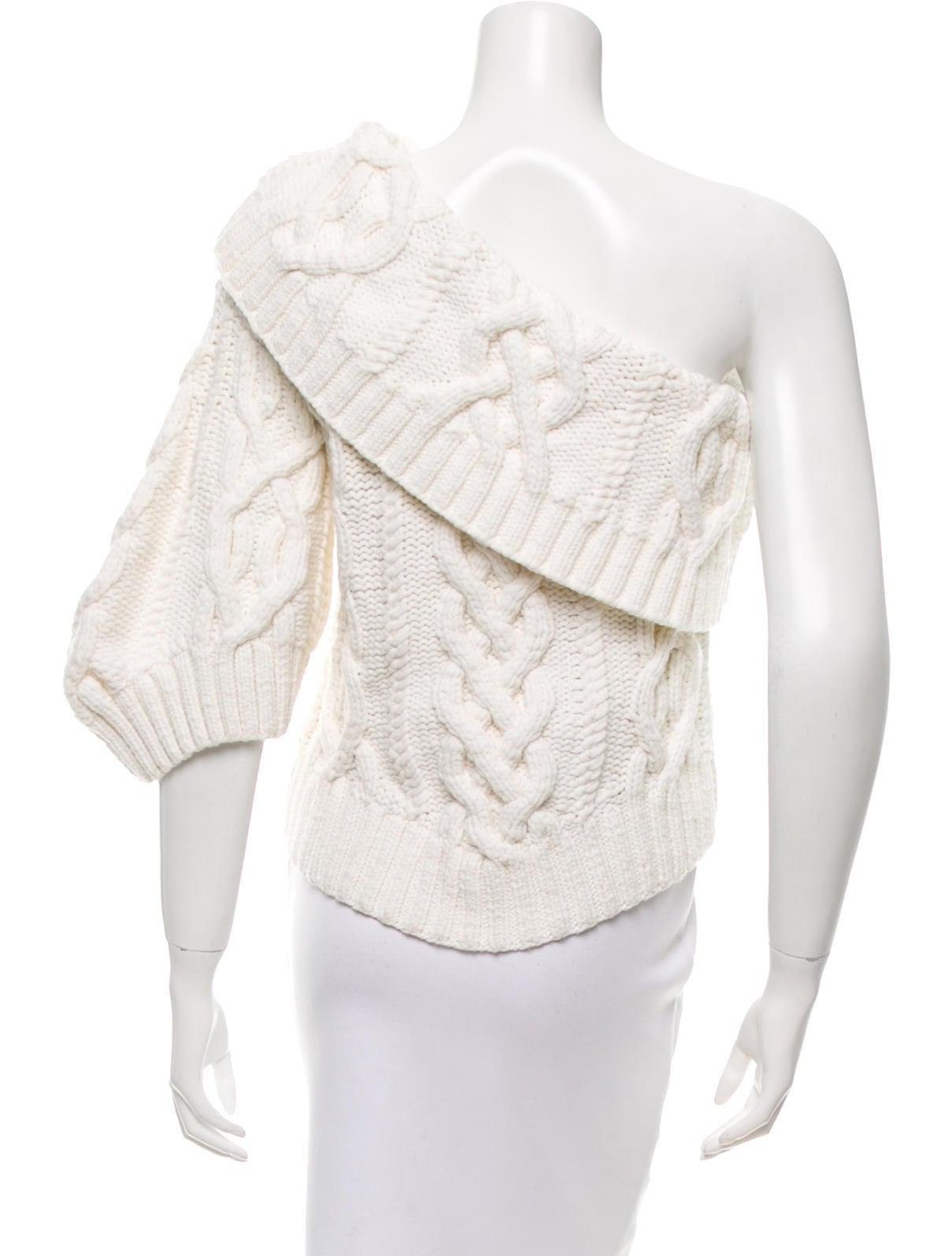 rosie assoulin 2016 one shoulder wool sweater clothing. Black Bedroom Furniture Sets. Home Design Ideas