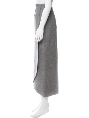 Virgin Wool Wrap Skirt