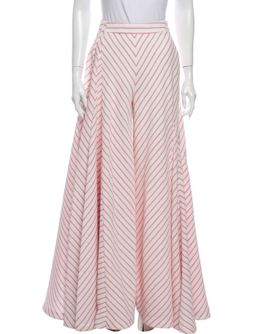 Rosie Assoulin Striped Wide Leg Pants White