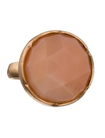 Peach Moonstone Ring
