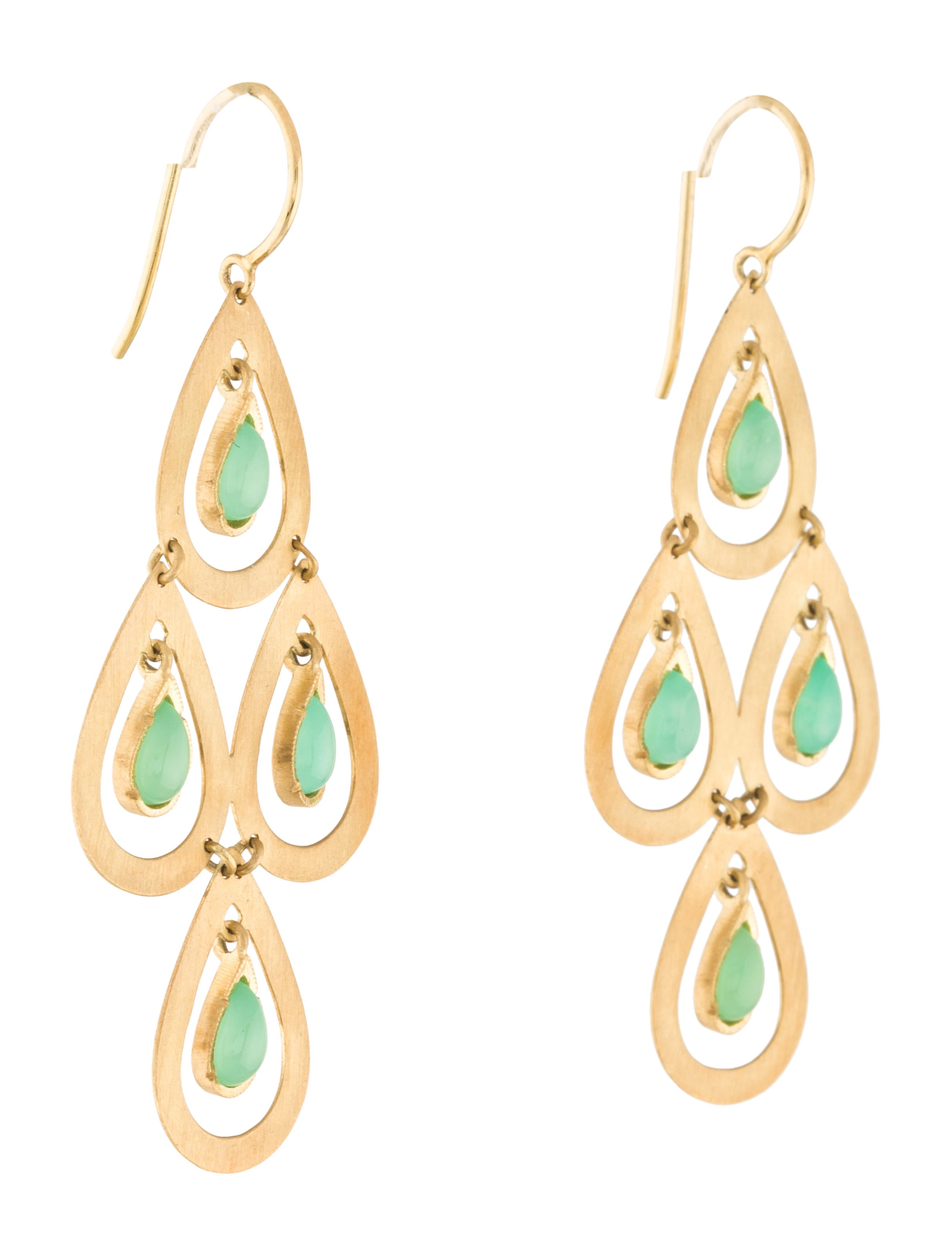 Yellow Dining Room Chairs Irene Neuwirth 18k Chrysoprase Chandelier Earrings