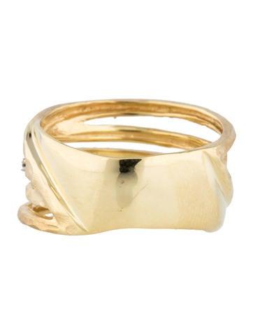 14K Diamond Gallery Ring