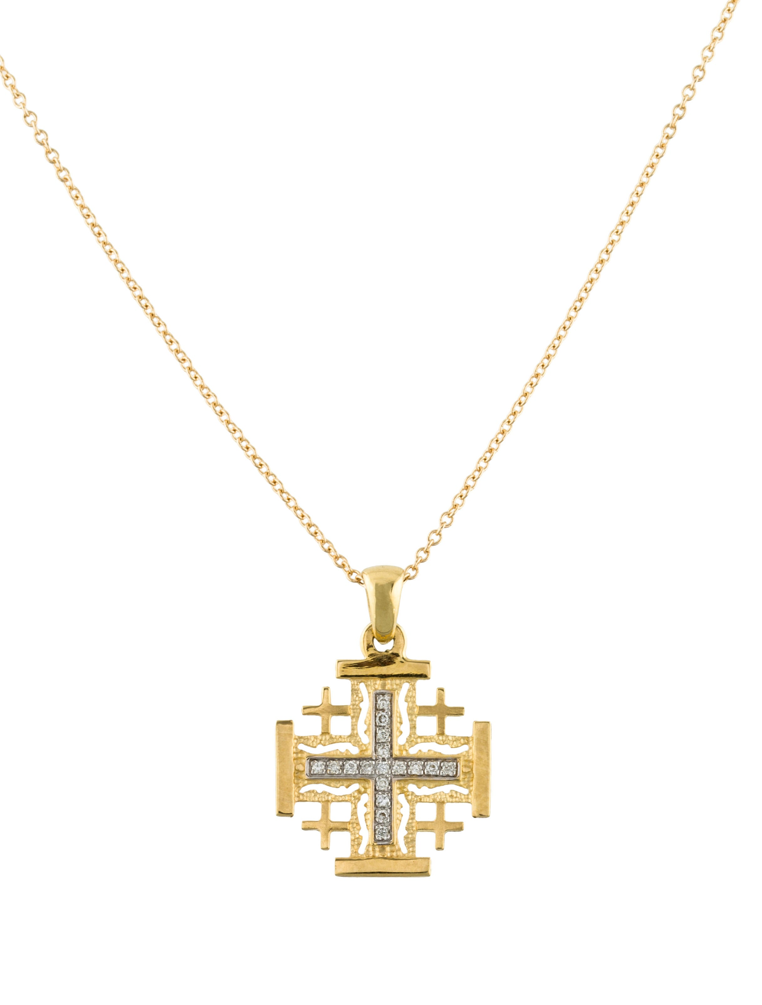 cross caprice jerusalem diamonds pendant bk product