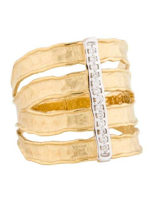 I. Reiss 14K Diamond Cut Out Band Yellow