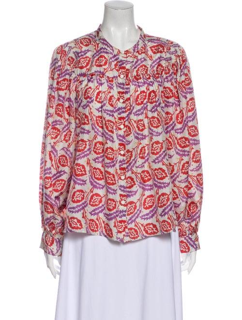 Isabel Marant Silk Printed Blouse White