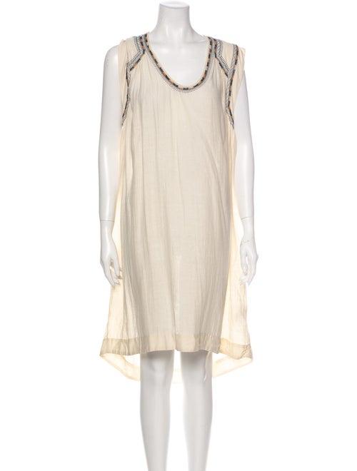 Isabel Marant Silk Mini Dress White
