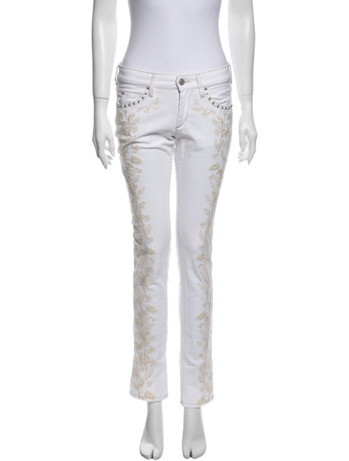 Isabel Marant Low-Rise Straight Leg Jeans White