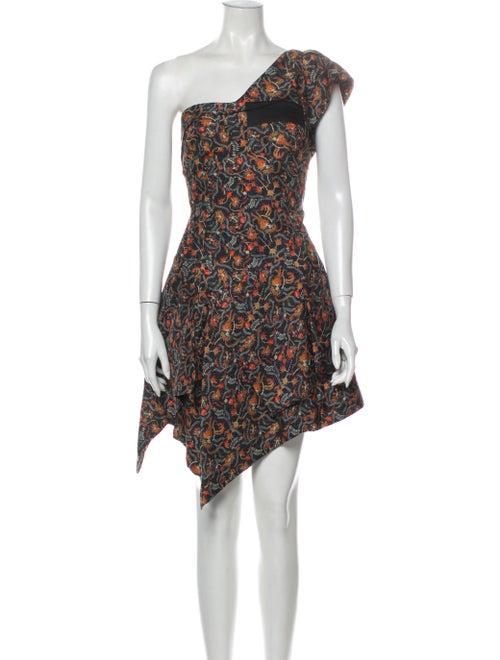 Isabel Marant Silk Mini Dress Blue