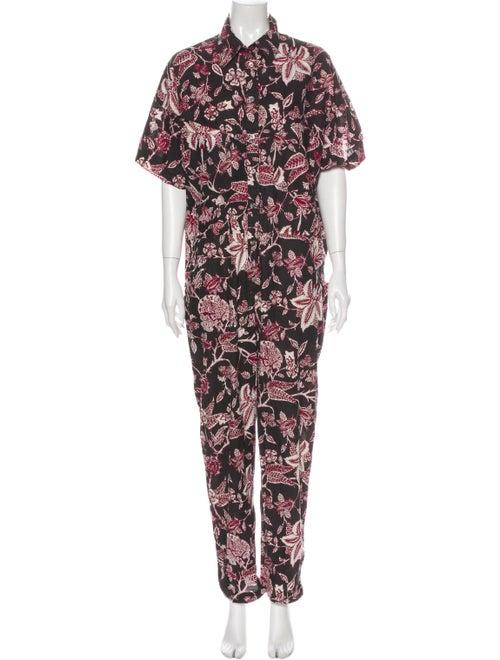 Isabel Marant Printed Jumpsuit Brown
