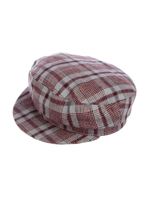 Isabel Marant Plaid Newsboy Hat multicolor
