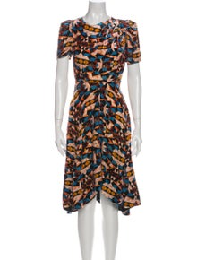 Isabel Marant Printed Midi Length Dress