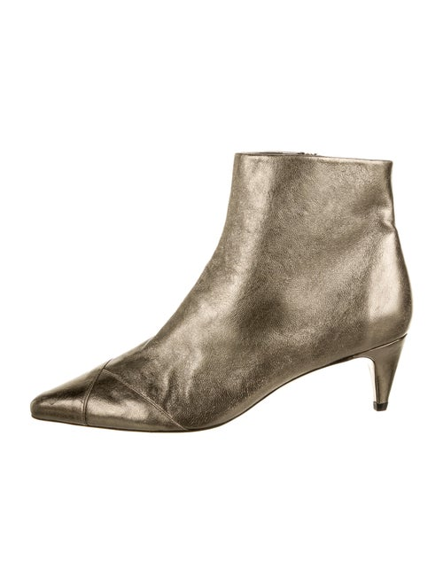 Isabel Marant Leather Boots Gold