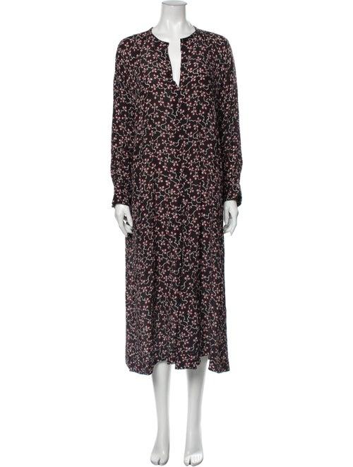 Isabel Marant Silk Long Dress Black