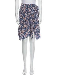 Isabel Marant Silk Knee-Length Skirt