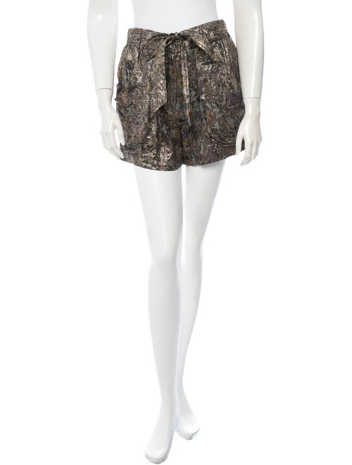 Isabel Marant Silk Shorts Metallic