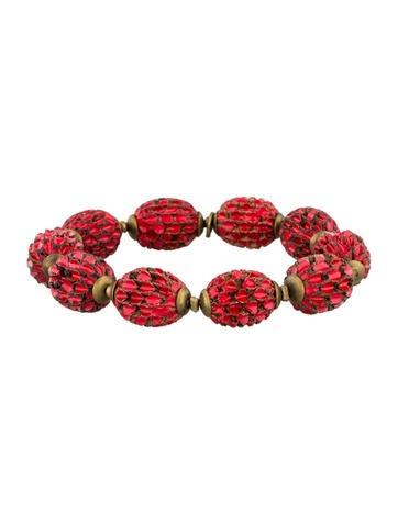 Carved Bead Bracelet