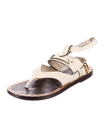 Embossed Leather Circus Maximus Sandals