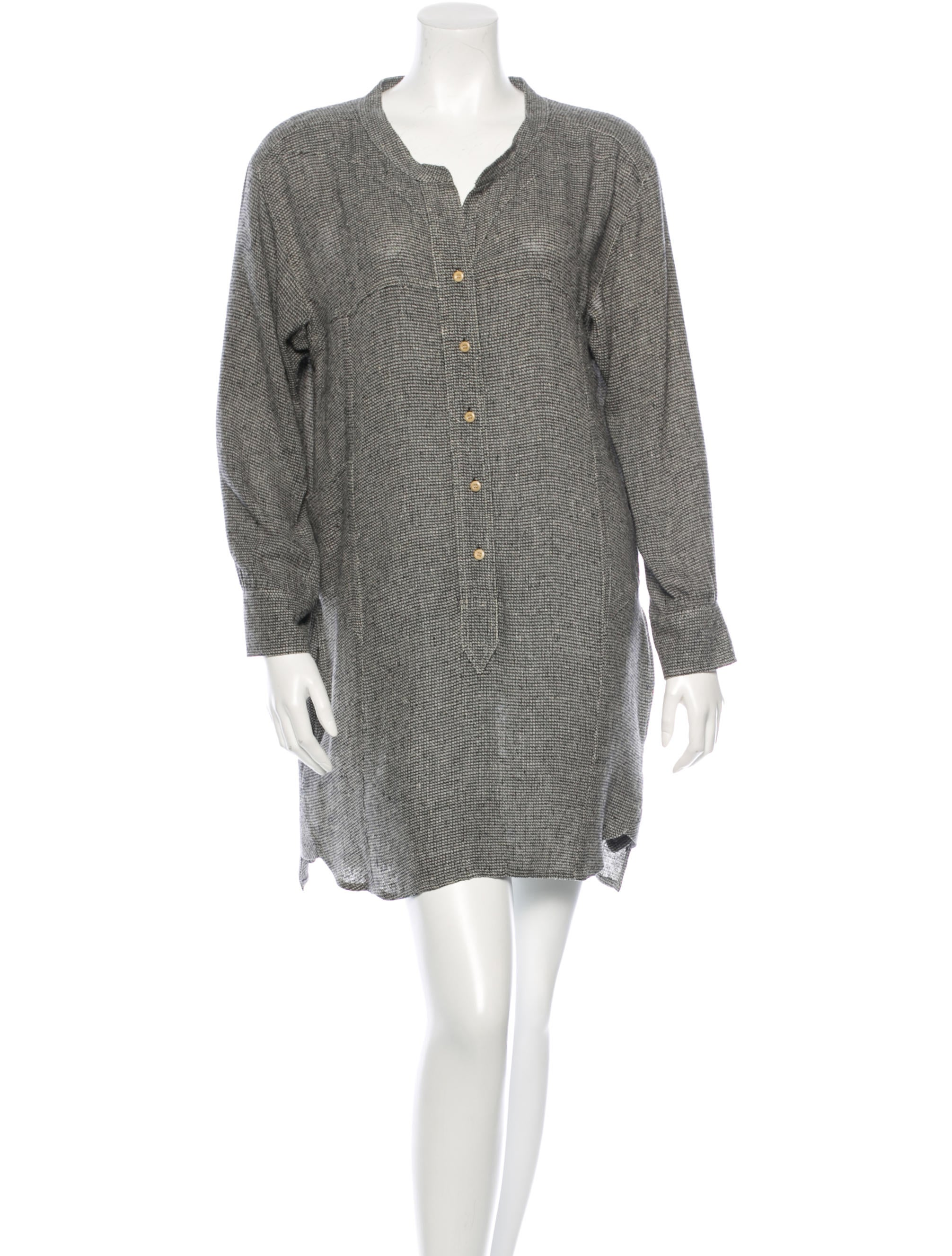 Isabel Marant Silk Shirt Dress Clothing Isa31419 The