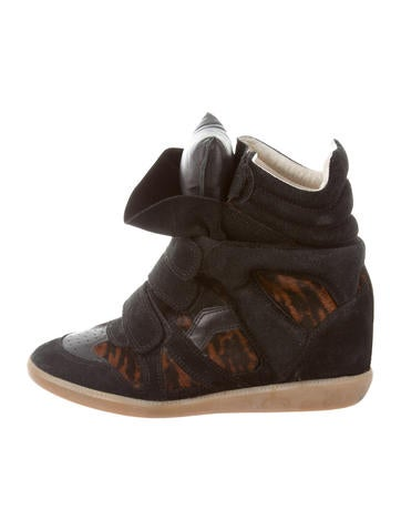 Ponyhair-Accented Beckett Sneakers