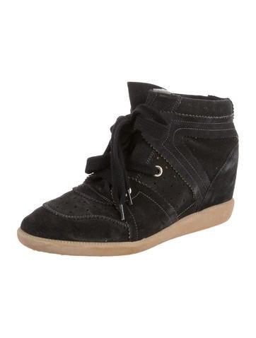 Bobby Suede Sneaker Wedges
