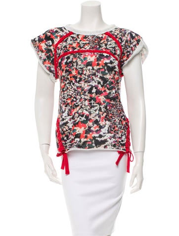 Isabel Marant Printed Short Sleeve Top None