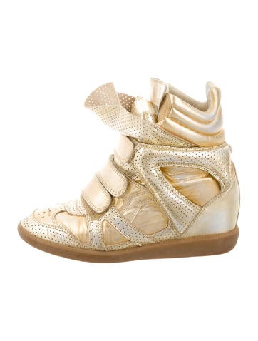 Metallic Bekket Sneaker Wedges
