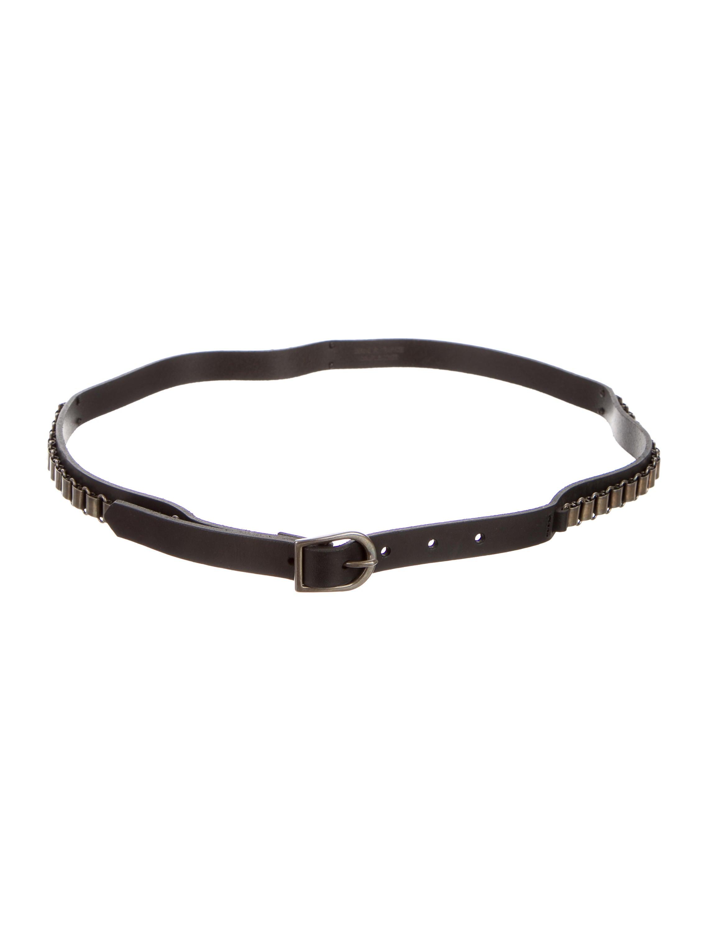 marant leather chain link waist belt accessories