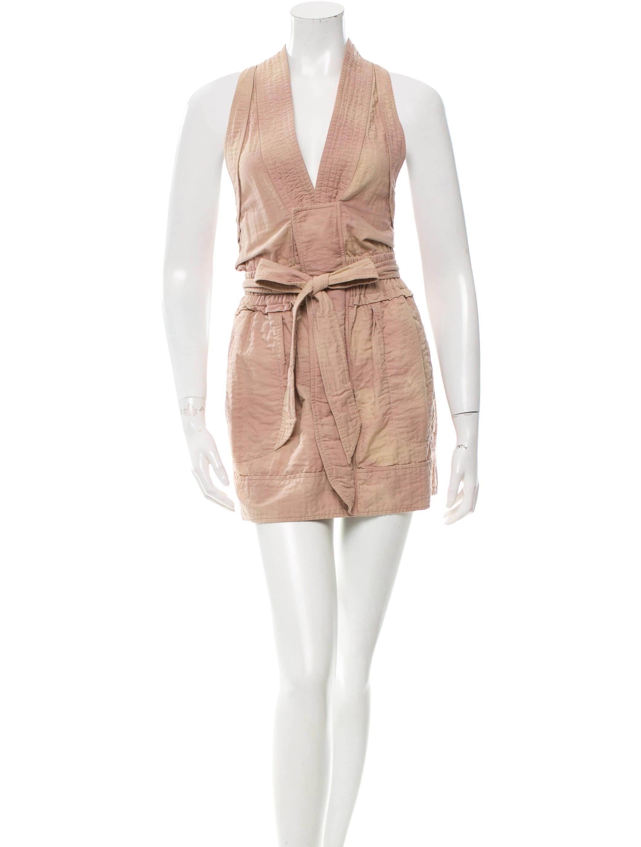 Isabel marant sleeveless mini dress clothing isa34218 for Isabel marant shirt dress