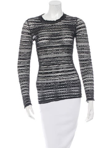 Isabel Marant Long Sleeve Crocheted Top None