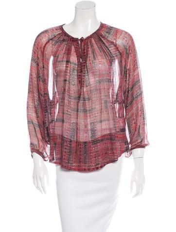 Isabel Marant Long Sleeve Silk Top None