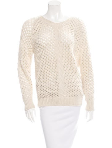 Isabel Marant Alpaca-Blend Open Knit Sweater None