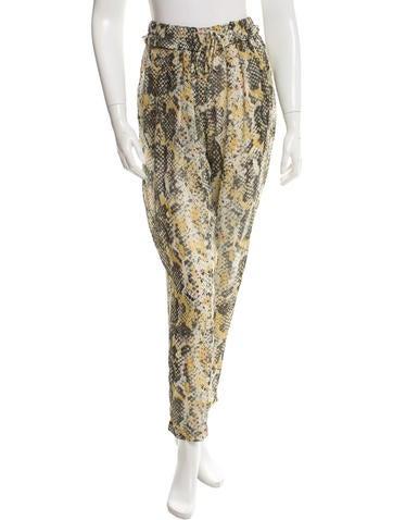 Isabel Marant Printed Silk Pants