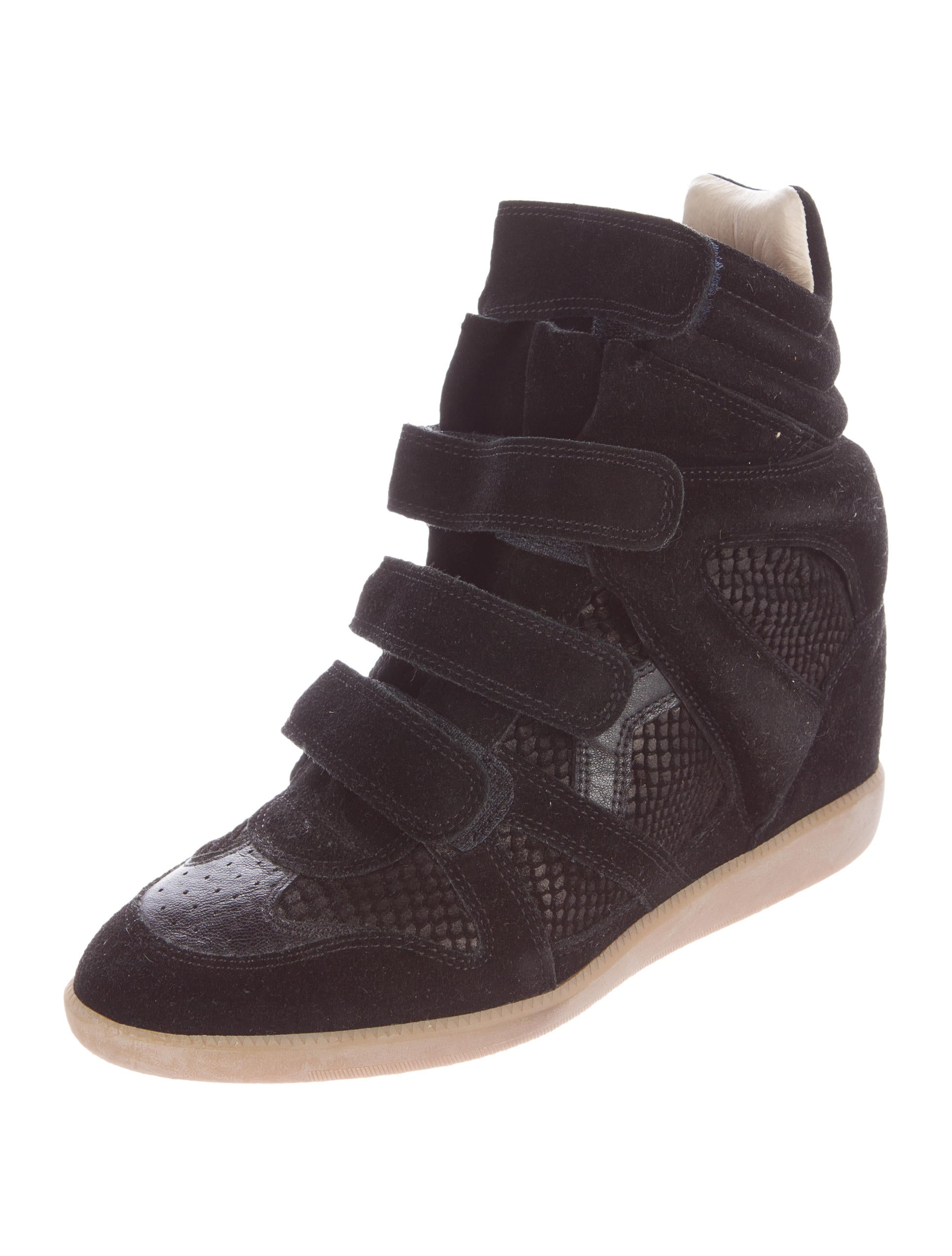 isabel marant beckett wedge sneakers shoes isa34761 the realreal. Black Bedroom Furniture Sets. Home Design Ideas