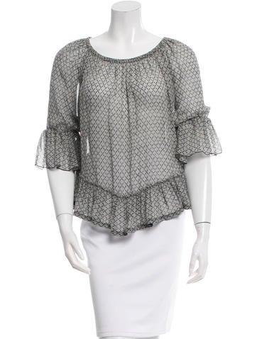 Isabel Marant Off-The-Shoulder Silk Top None
