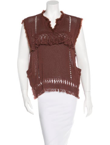 Isabel Marant Distressed Knit Top None
