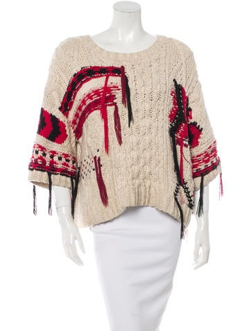 Isabel Marant Lucy Cable Knit Sweater None