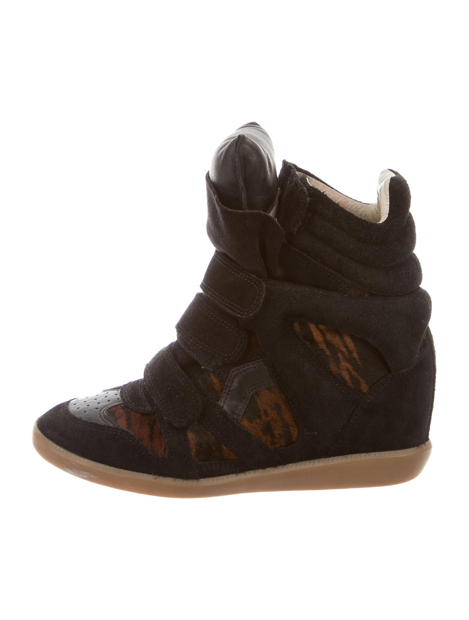isabel marant beckett wedge sneakers shoes isa35282 the realreal. Black Bedroom Furniture Sets. Home Design Ideas