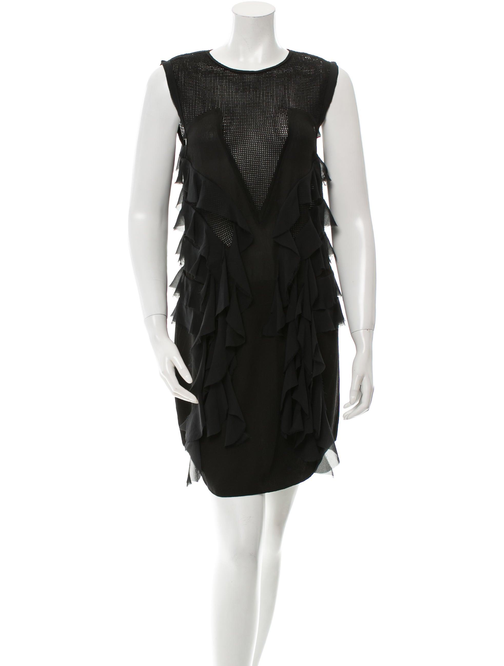Isabel marant mesh ruffle dress clothing isa35417 for Isabel marant shirt dress