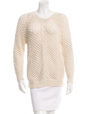 Isabel Marant Alpaca Open Knit Sweater None