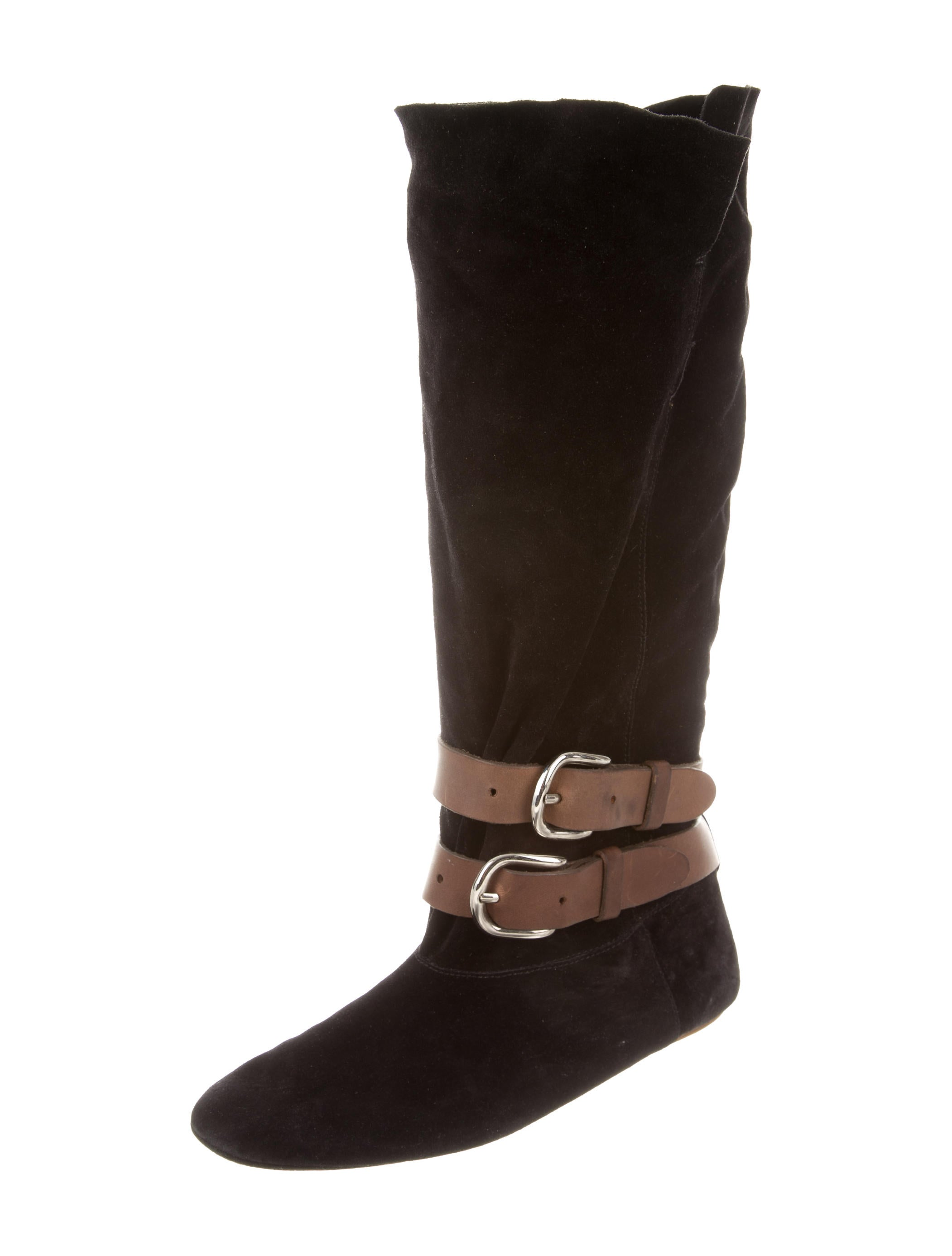 marant suede leather knee high boots shoes