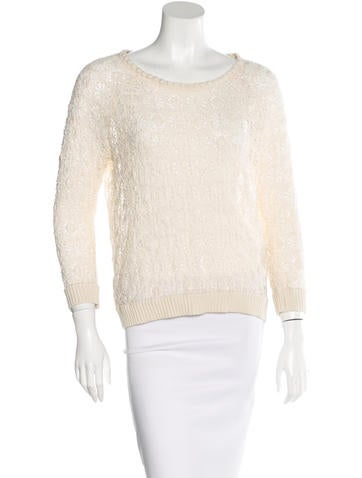 Isabel Marant Crochet Long Sleeve Top None