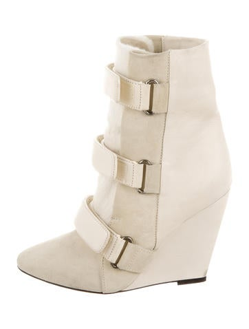 Isabel Marant Scarlet Ponyhair Ankle Boots
