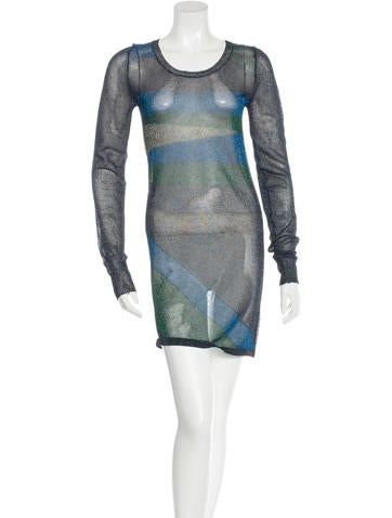 Isabel Marant Metallic Knit Dress None