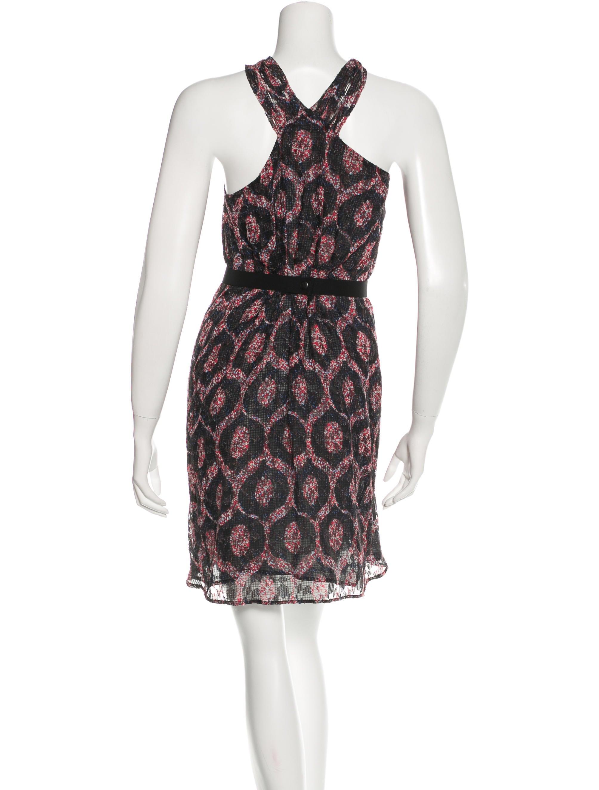 Isabel marant silk printed dress clothing isa35902 for Isabel marant shirt dress