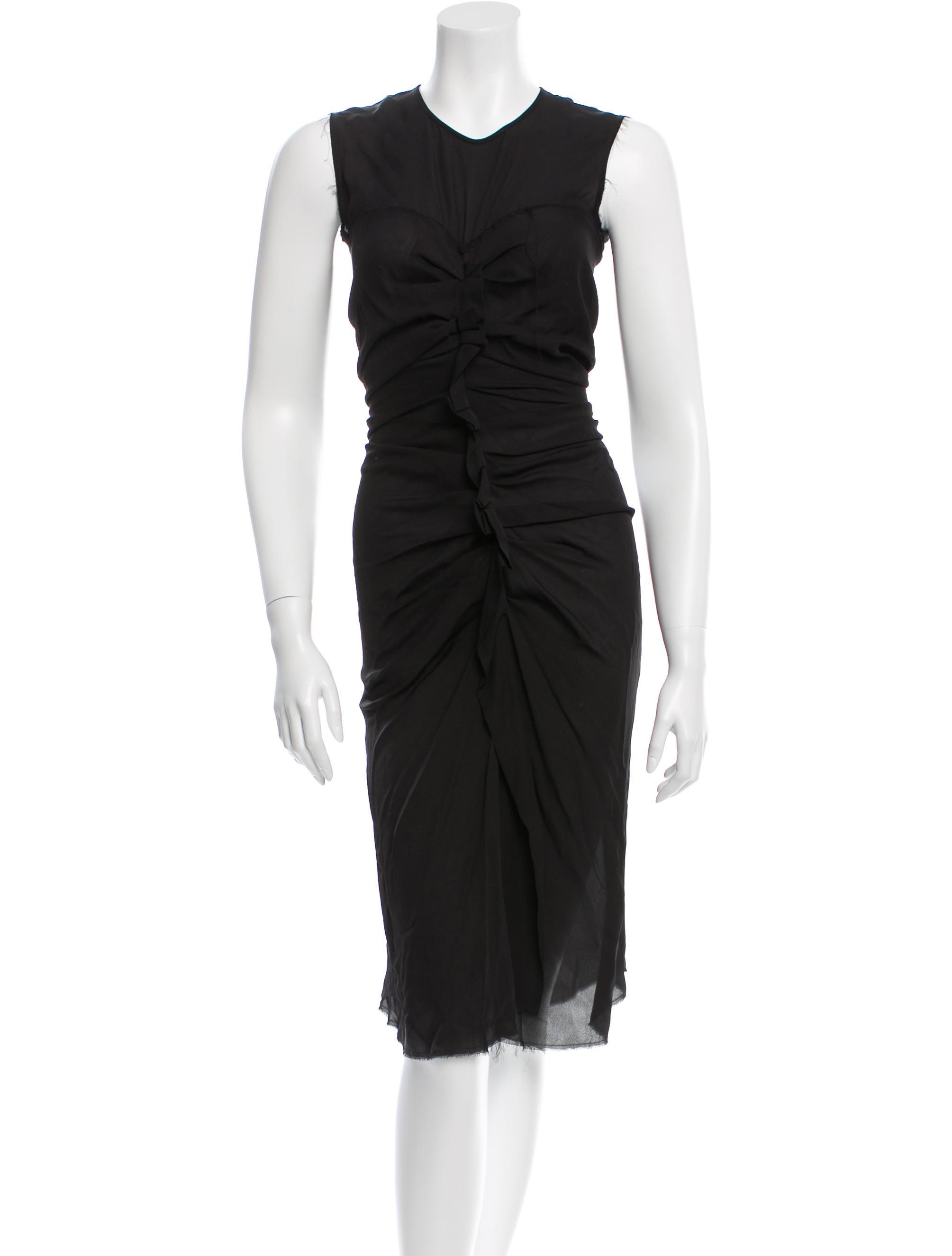 Isabel marant ruched silk dress clothing isa35963 for Isabel marant shirt dress