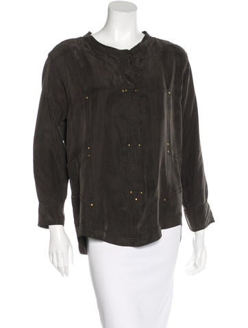 Isabel Marant Studded Long Sleeve Top None