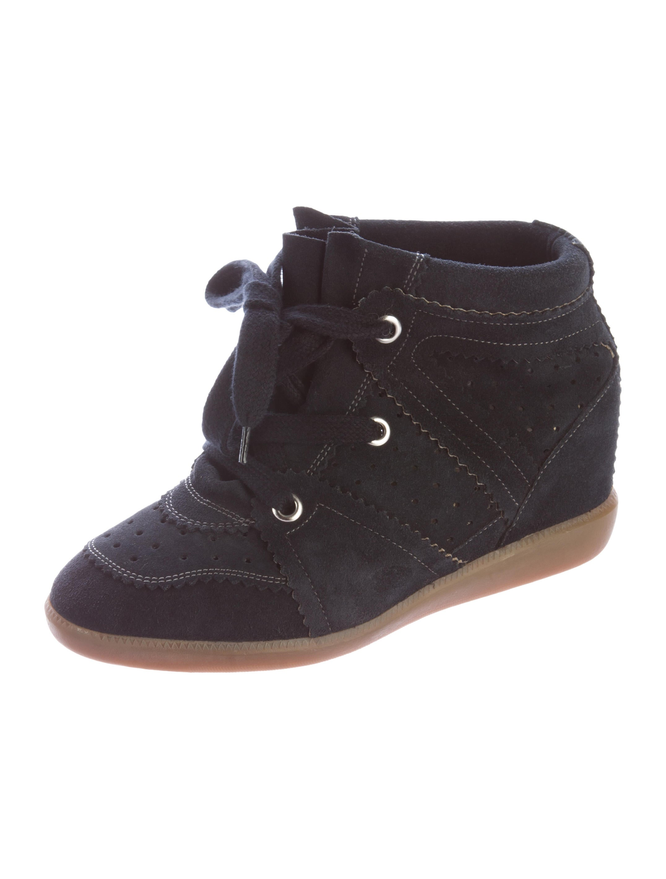 isabel marant bobby wedge sneakers shoes isa36148 the realreal. Black Bedroom Furniture Sets. Home Design Ideas