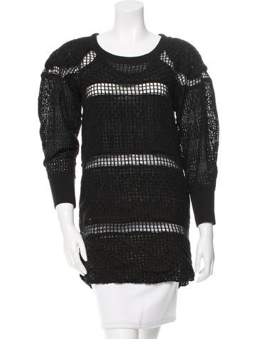 Isabel Marant Long Sleeve Eyelet Tunic None